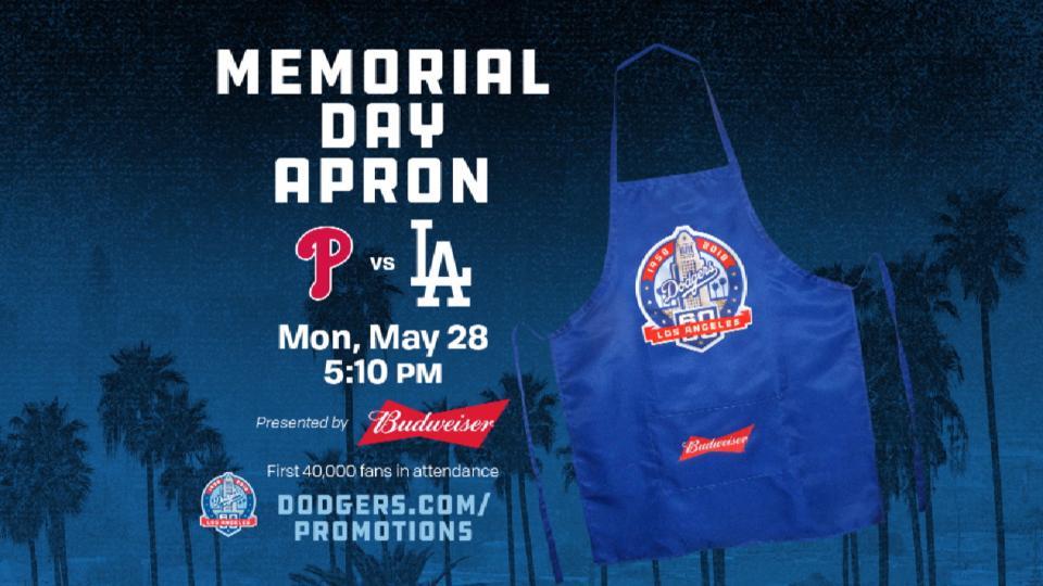 Dodgers Memorial Day Apron
