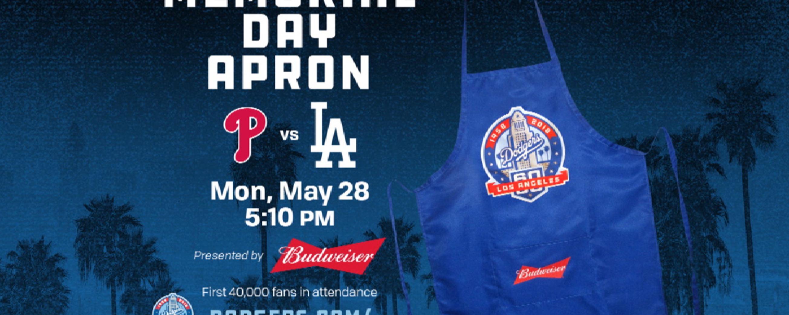 Dodgers Memorial Day Apron  a3e1baa8ea5