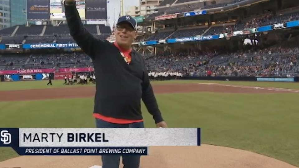 Ceremonial First Pitch: Birkel