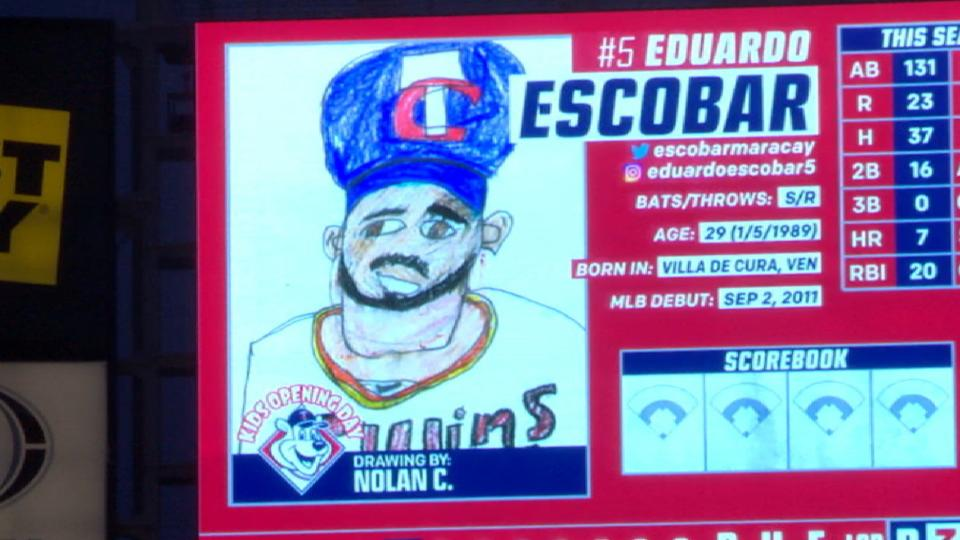 Twins display young fan's art