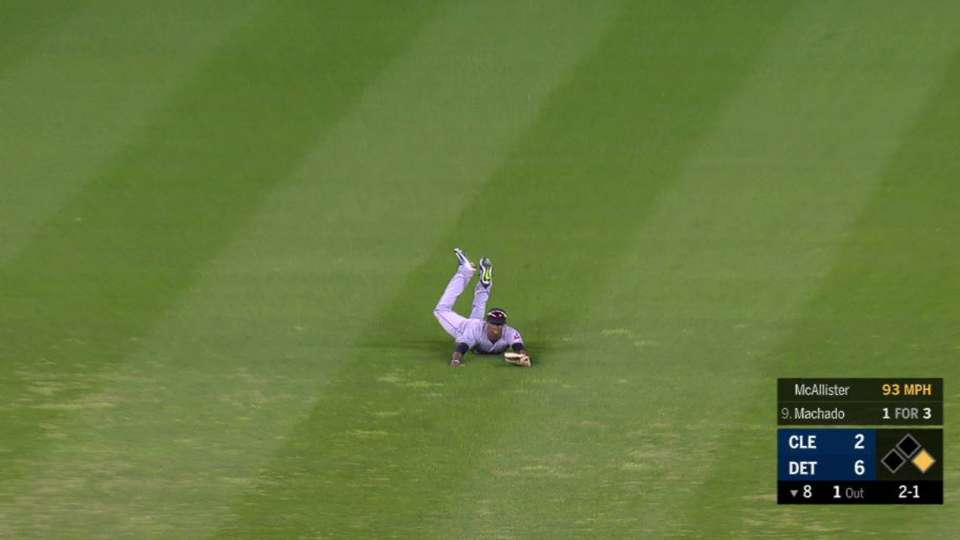 Allen's diving catch in the 8th