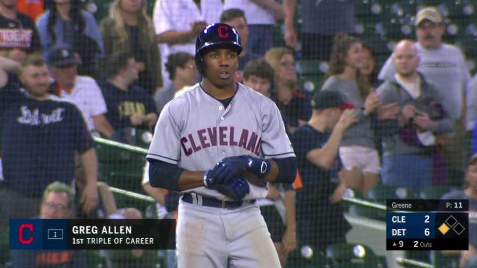 Allen's first career triple