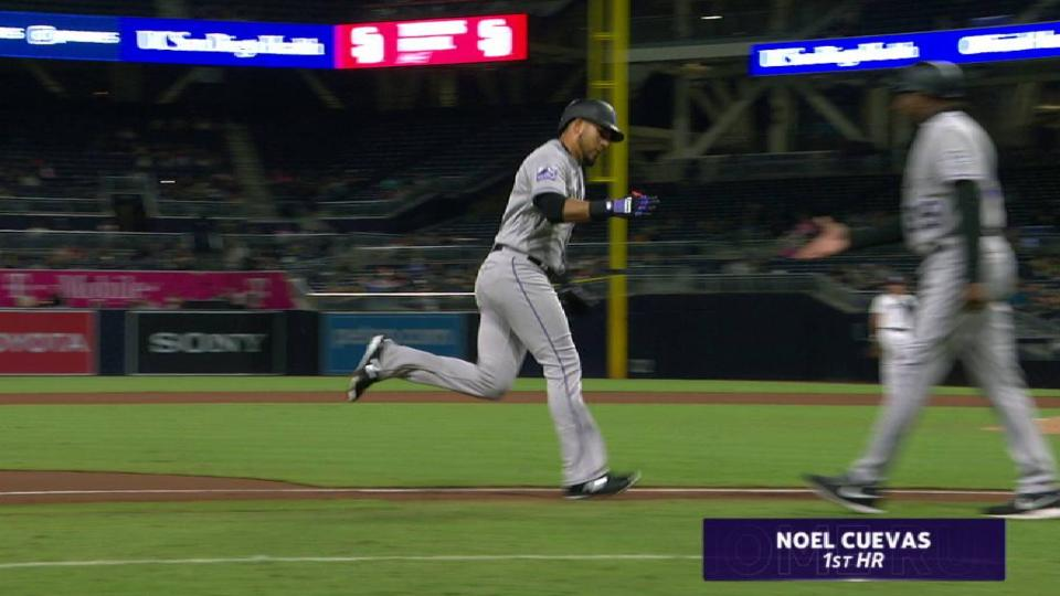 Cuevas' first career home run