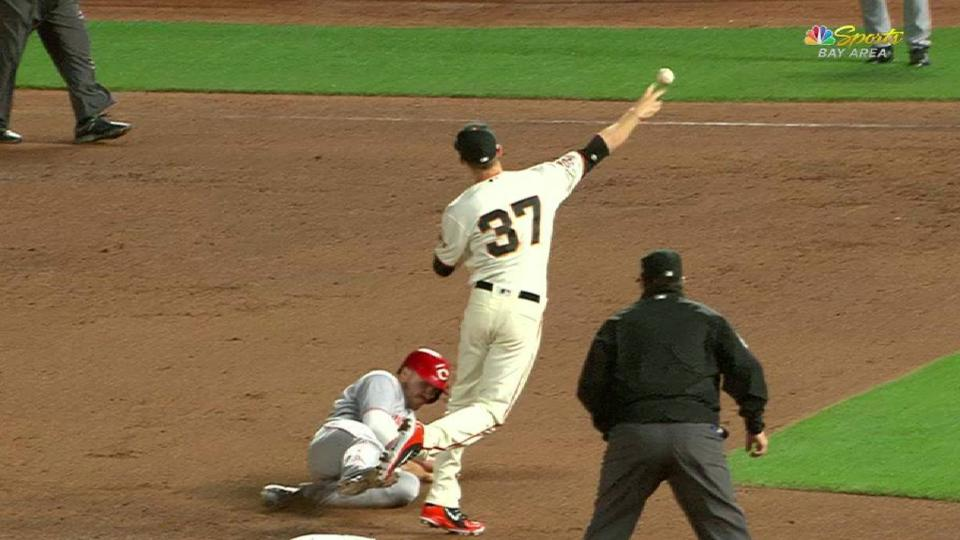 Stratton induces a double play