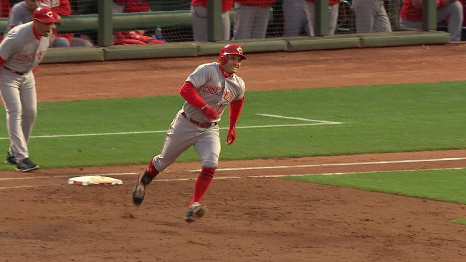 Votto exits game with injury
