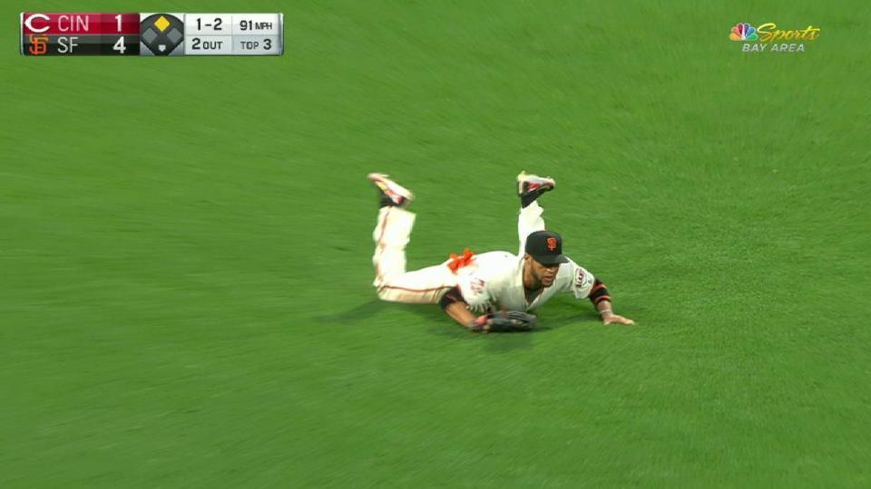 Blanco's diving grab
