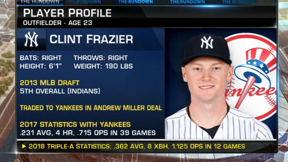 Frazier called up by Yankees