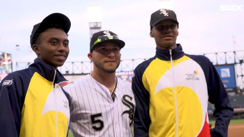 Colombian youth team visits Sox