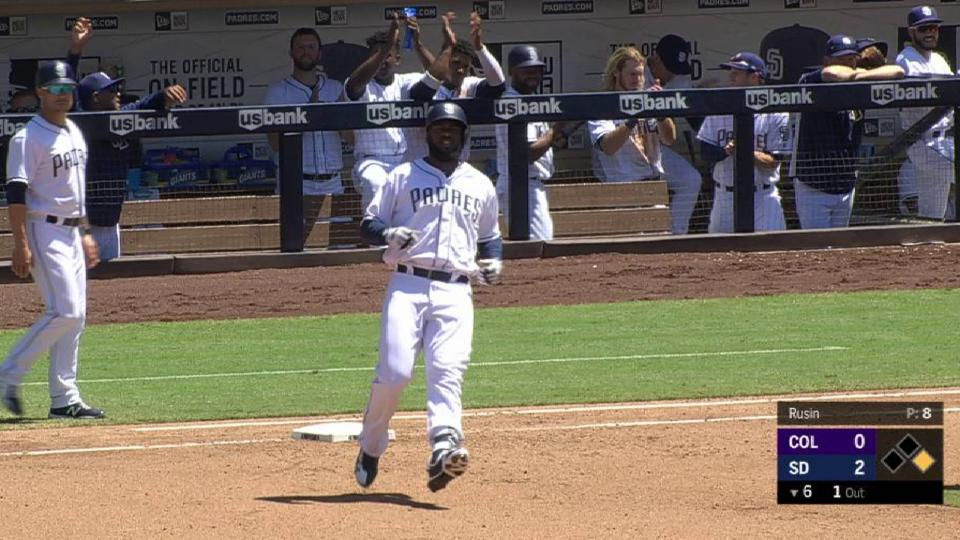 Reyes' first Major League hit