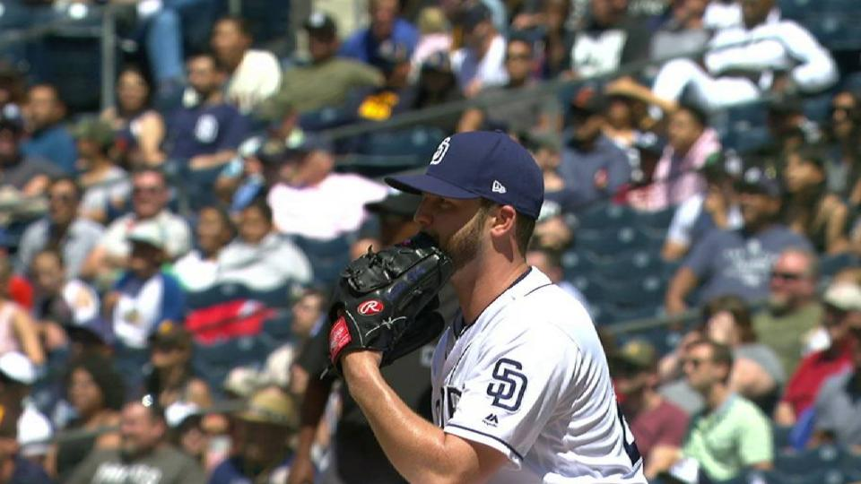 Lyles loses perfect game in 8th