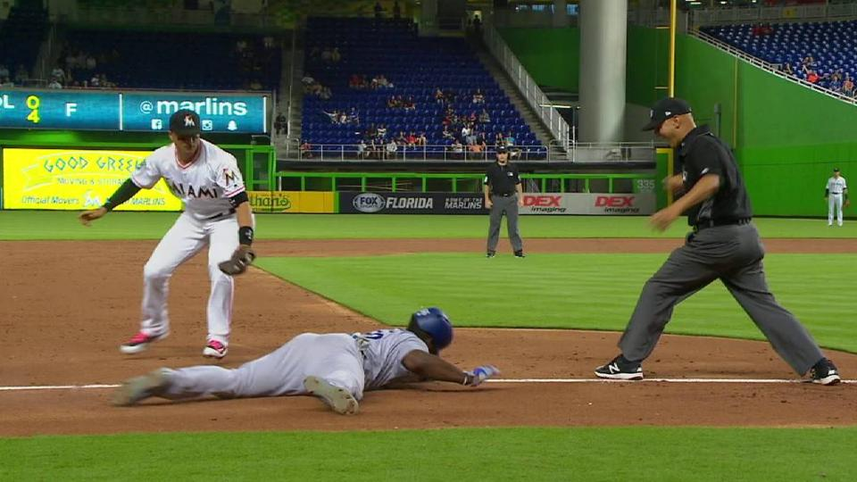 Puig goes first to third