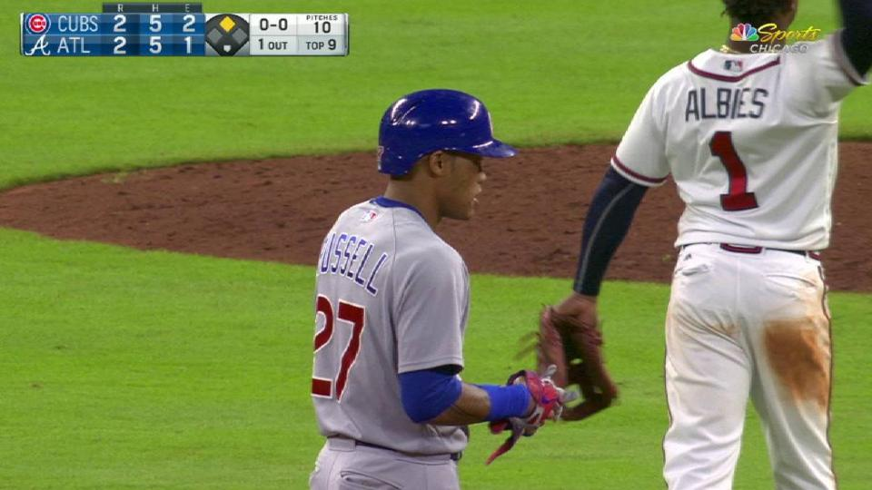 Russell's game-tying RBI double