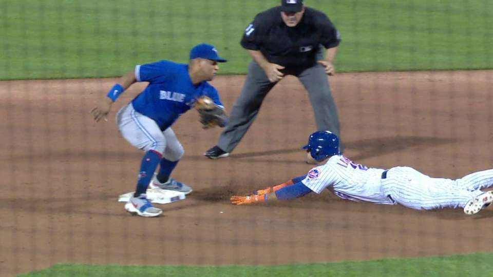 Lagares safe at second on review