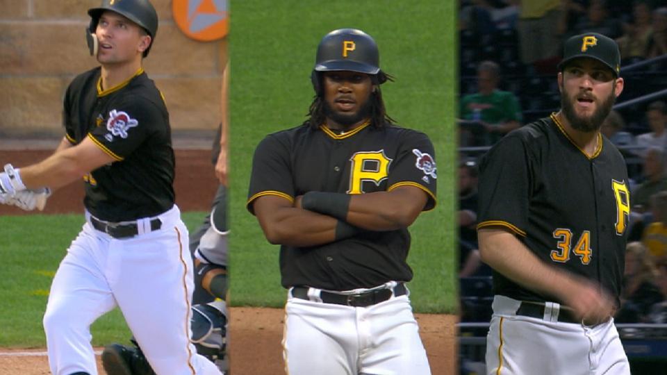 Bucs' bats, pitching fuel win