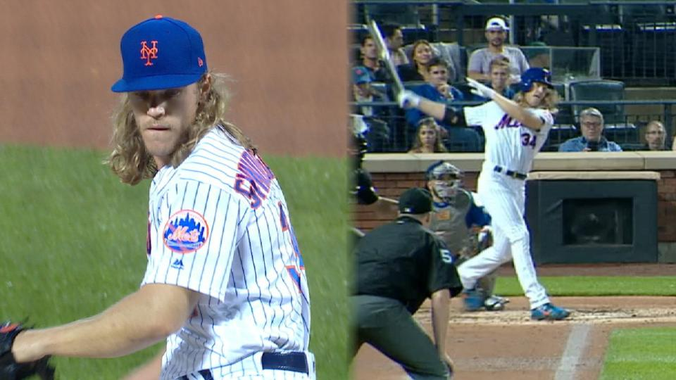 Syndergaard K's 7, drives in 2