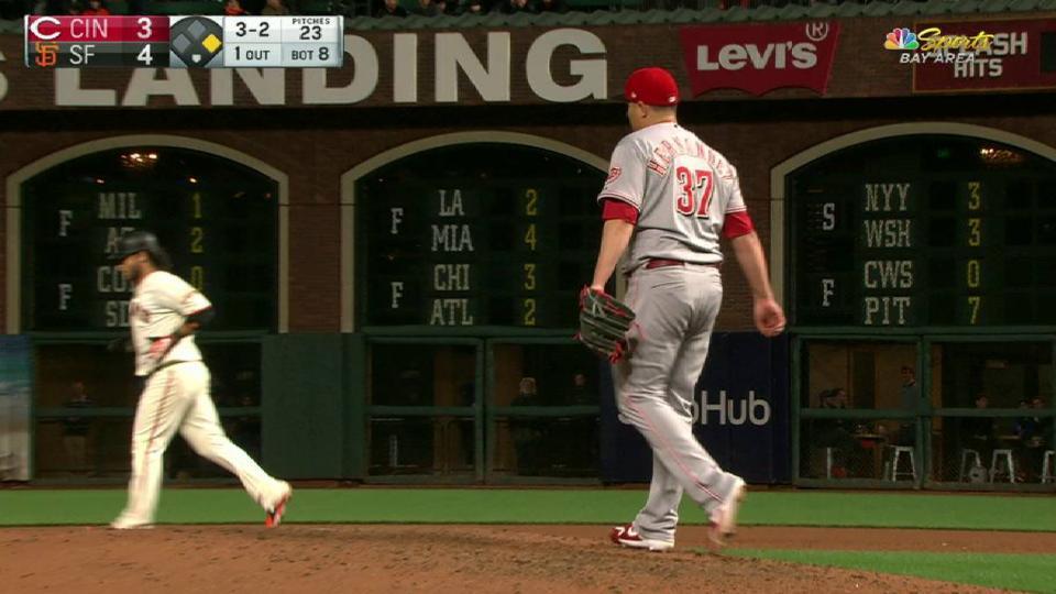 Crawford advances on a balk