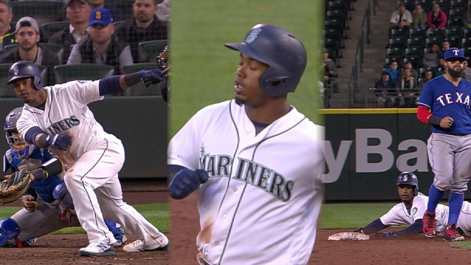 Segura shows off speed, bat