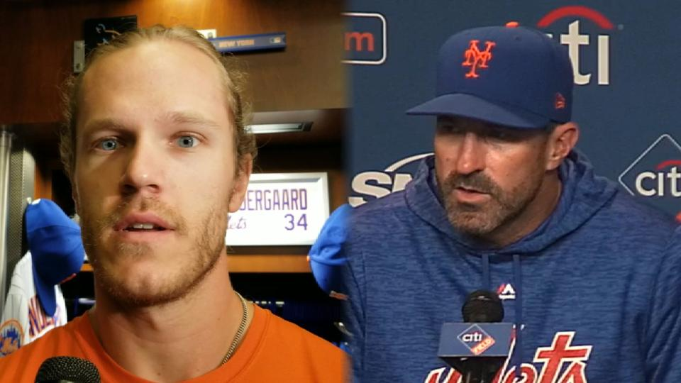 Syndergaard discusses 12-2 win