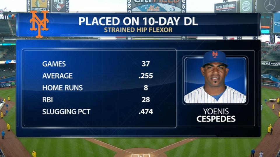 Cespedes lands on 10-day DL