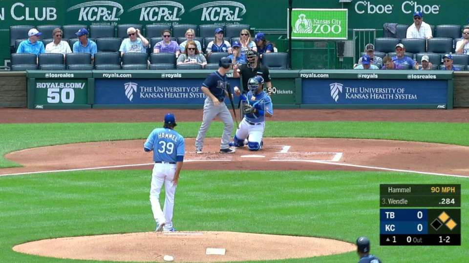Hammel strikes out Wendle