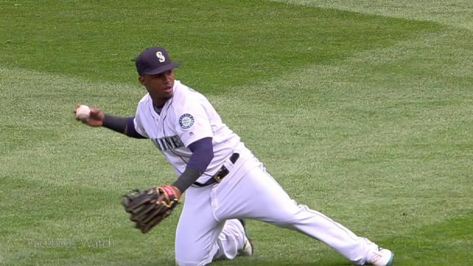 Segura's smooth backhanded stop