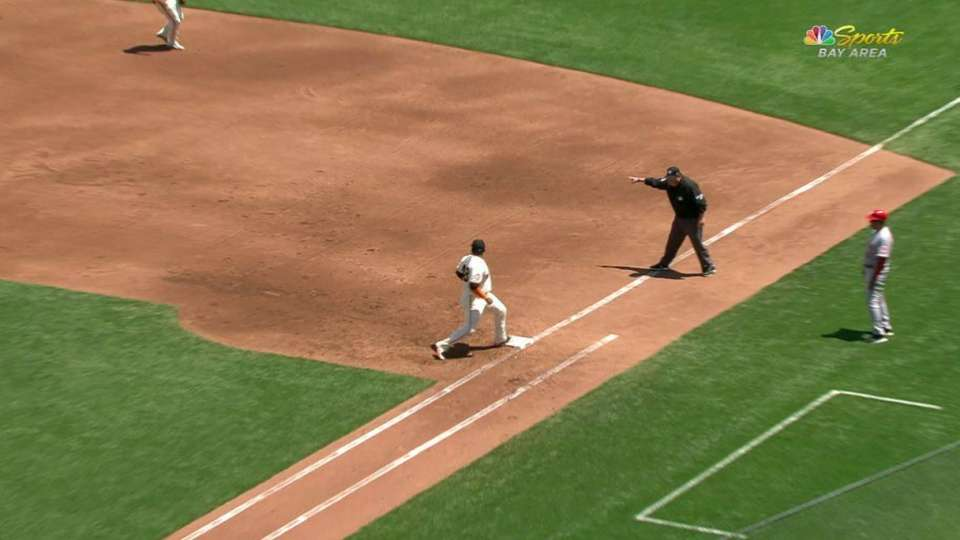 Sandoval snags sharp grounder
