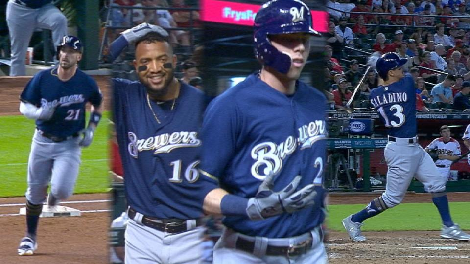 Brewers homer 4 times in victory