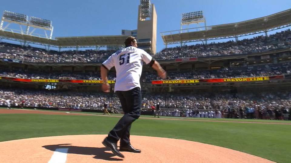 Hoffman's ceremonial first pitch