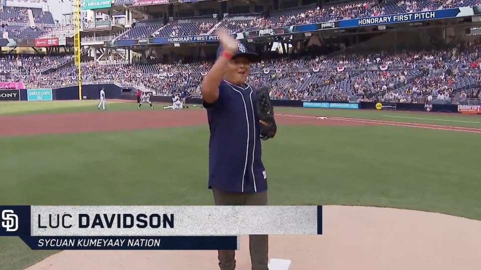 3/31/18: Davidson's first pitch