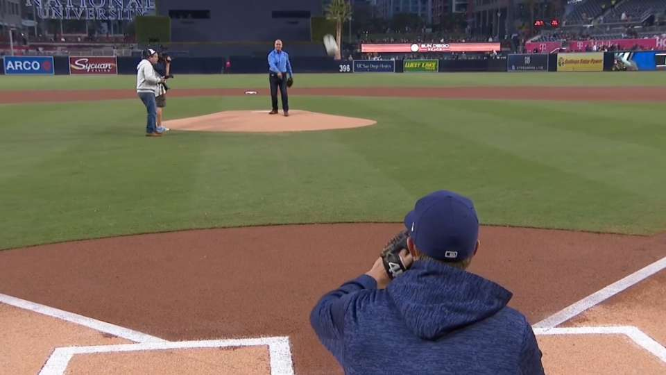04/04/18: Caine's First Pitch