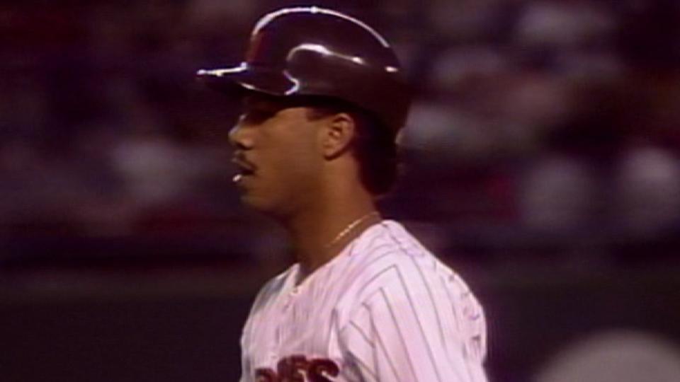 Alomar's first big league hit