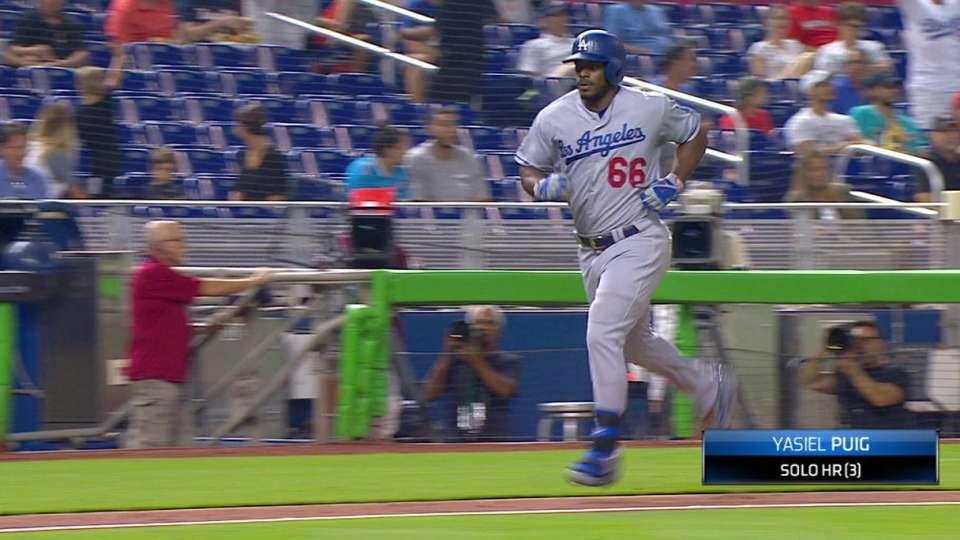 Puig's solo home run