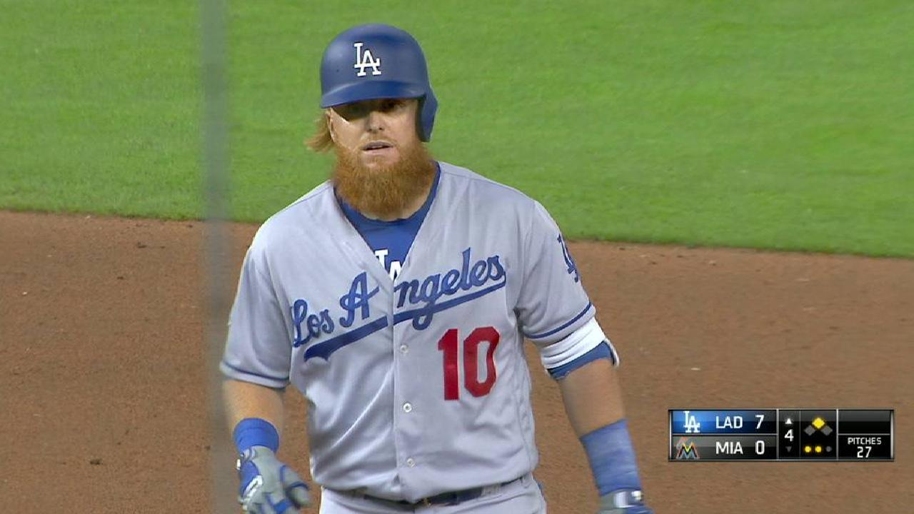c03df0263 Justin Turner collects 5 RBIs in win vs. Miami
