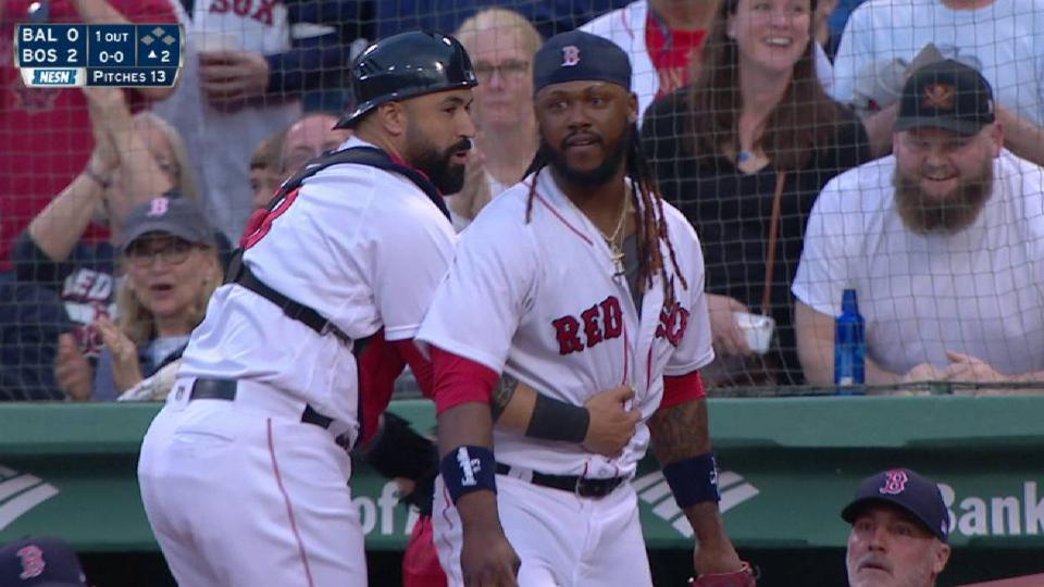 Ramirez's catch by the dugout
