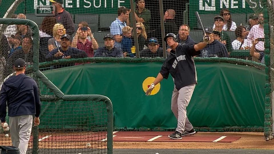 Judge takes batting practice