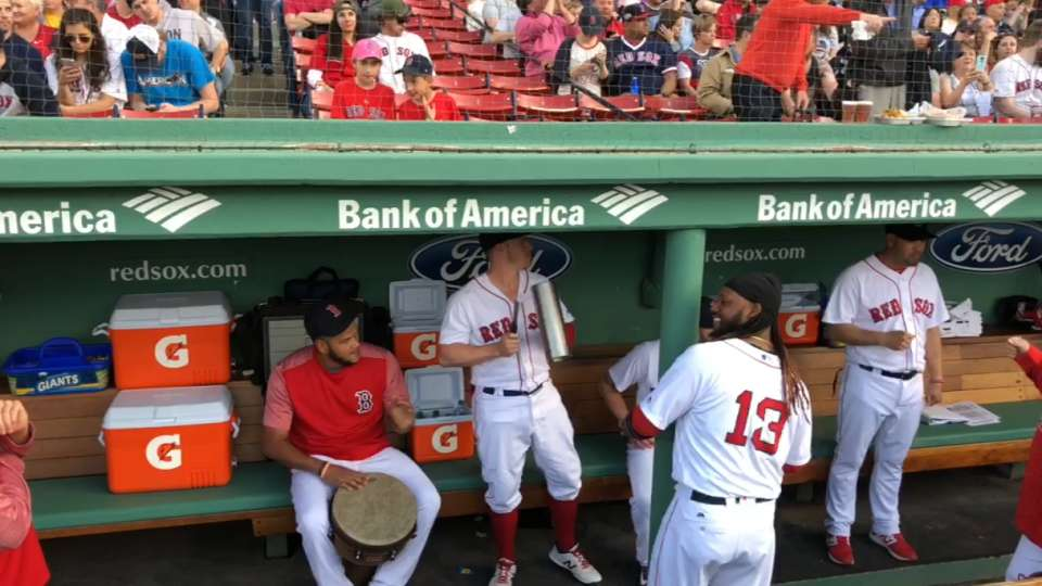 Red Sox hold dugout concert