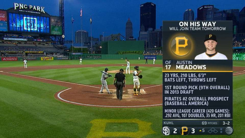 Pirates calling up Meadows