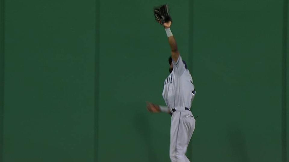 Margot's leaping catch