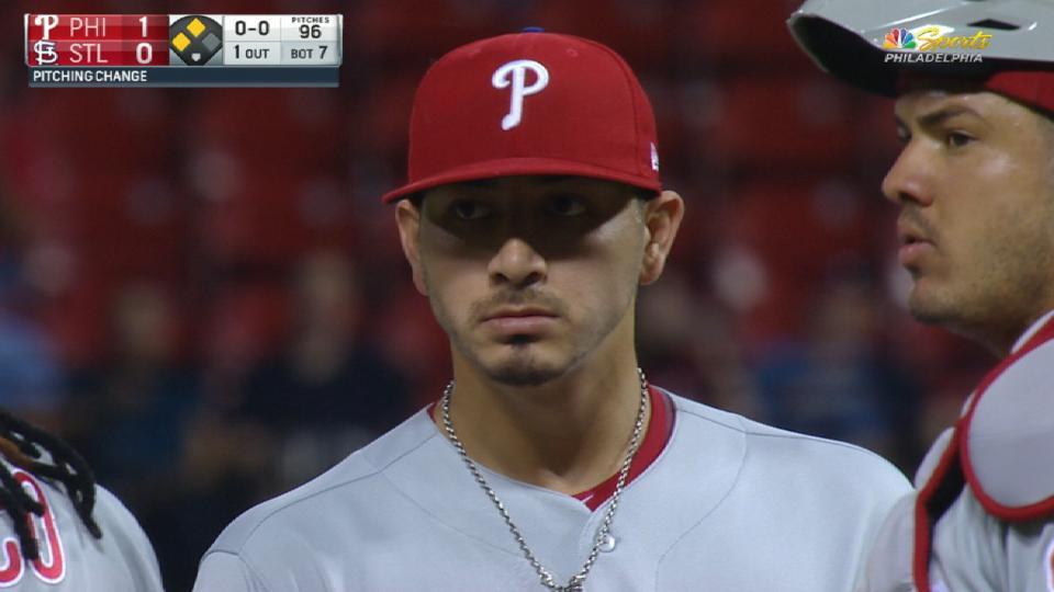 Velasquez K's 5 vs. Cardinals