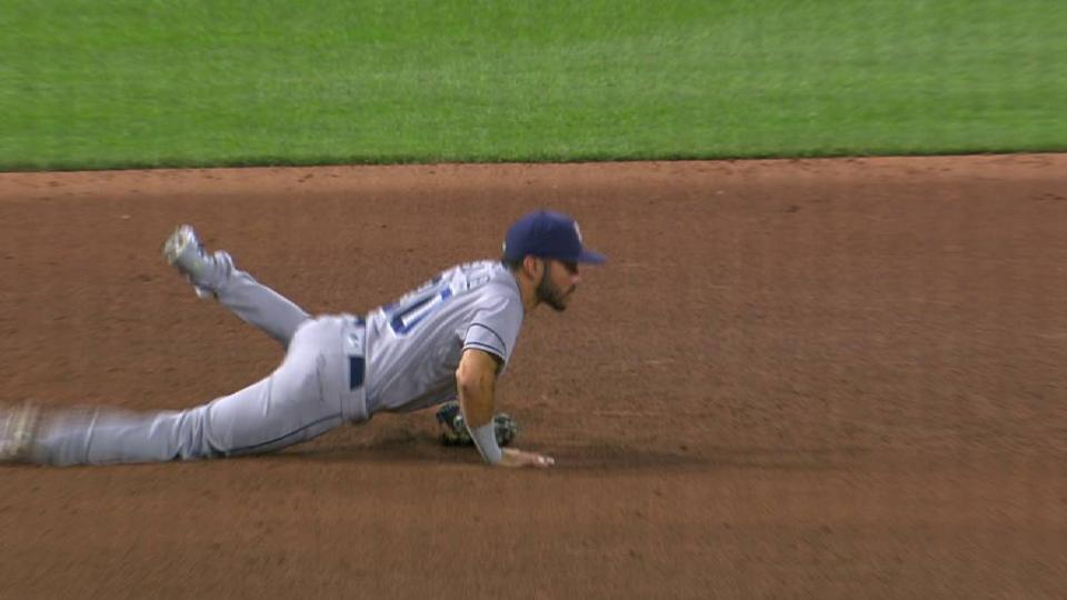 Asuaje's diving catch