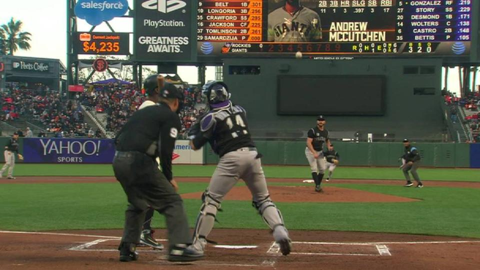 Wolters' strong throw for DP