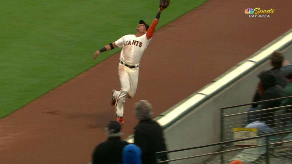 Hernandez's leaping catch