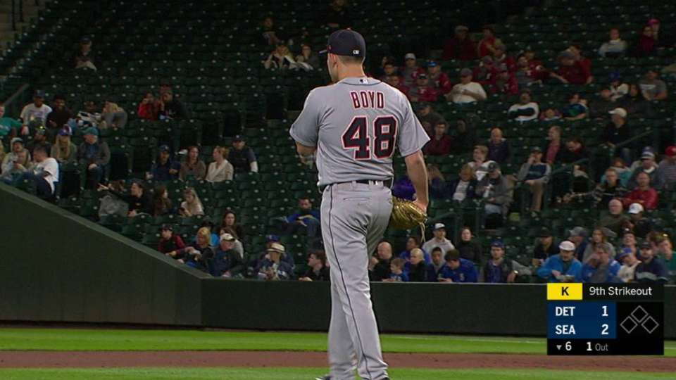 Boyd picks up his 9th strikeout