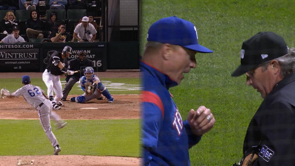 Banister gets ejected in the 8th