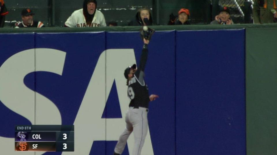 Blackmon's leaping catch