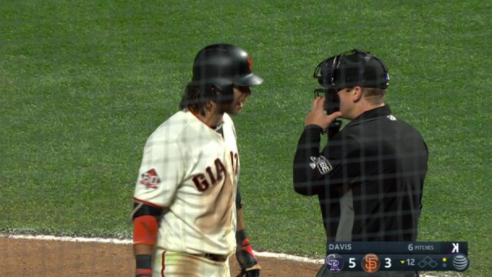 Crawford, Bochy ejected in 12th