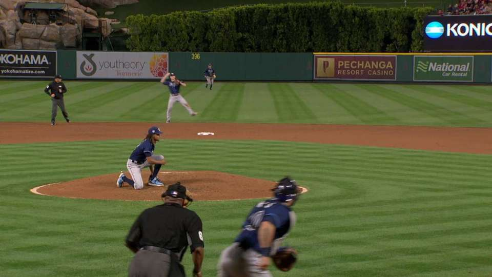 Wendle's slick backhanded stop