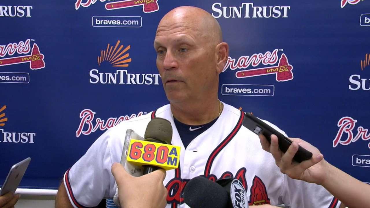 Matt Wisler Gets Spot Start For Braves Sport Bra Golden Nick Good Quality Snitker On 2 0 Loss To Marlins
