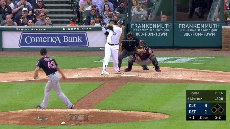 Tomlin strikes out Martinez