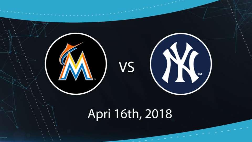 4/16/18: MIA vs. NYY Highlights